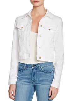 J Brand Harlow Trucker Denim Jacket in White