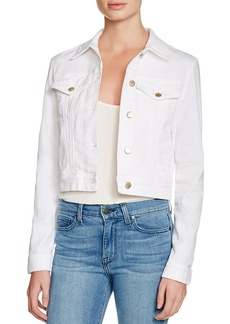 J Brand Harlow Trucker Denim Jacket in White