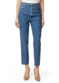 J Brand Heather Button Fly Straight Leg Jeans (Electrify)