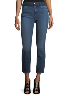 J Brand High-Rise Straight-Leg Cropped Jeans