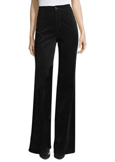 J Brand High Waisted Velvet Pants
