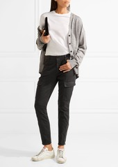 J Brand Houlihan cropped cotton-blend twill skinny pants