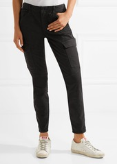 J Brand Houlihan cropped cotton-blend twill skinny pants