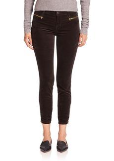 J BRAND Iselin Cropped Velvet Skinny Jeans