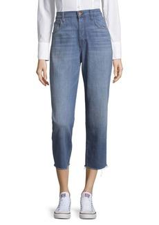 J BRAND Ivy High-Rise Cotton Crop Jeans