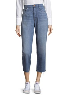 J BRAND Ivy High-Rise Cotton Crop Jeans