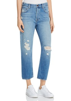 J Brand Ivy High Rise Crop Jeans in Bleach Wrecked