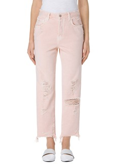 J Brand Ivy High Waist Crop Straight Leg Jeans