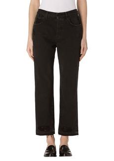 J Brand Ivy High Waist Crop Straight Leg Jeans (Double Cross)