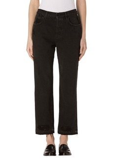 J Brand Ivy High Waist Crop Straight Leg Jeans (Double Cross)