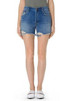 J Brand Ivy High Waist Denim Shorts (Wrecked)
