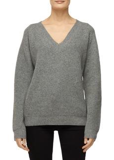J Brand Jayla V-Neck Wool-Cashmere Sweater