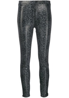 J Brand Darcy snake-effect pull-on trousers