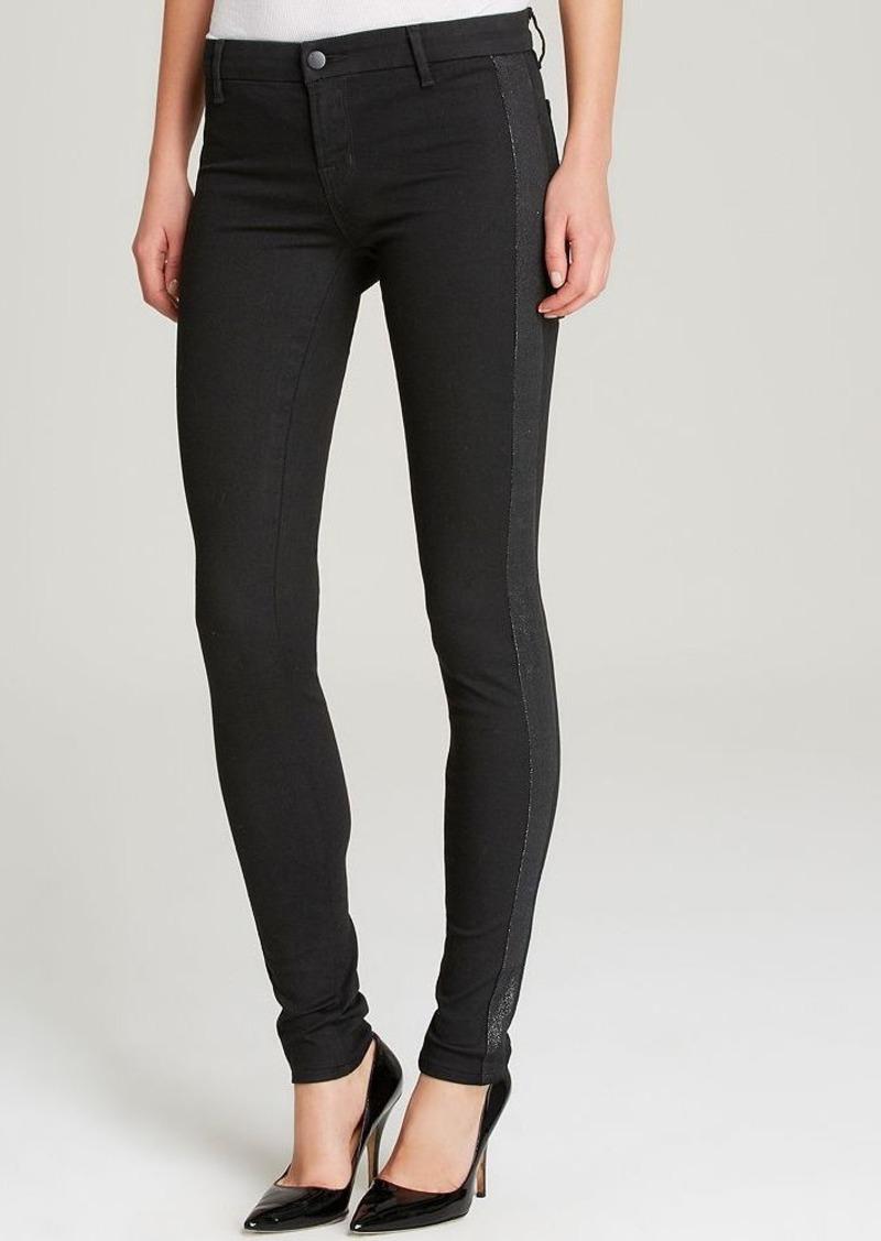 j brand j brand jeans exclusive photo ready devin tuxedo stripe skinny in vanity denim. Black Bedroom Furniture Sets. Home Design Ideas