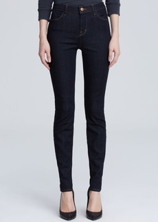 J Brand Maria High-Rise Skinny Jeans in Afterdark