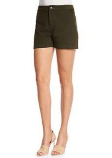 J Brand Mila Mid-Rise Leather Shorts