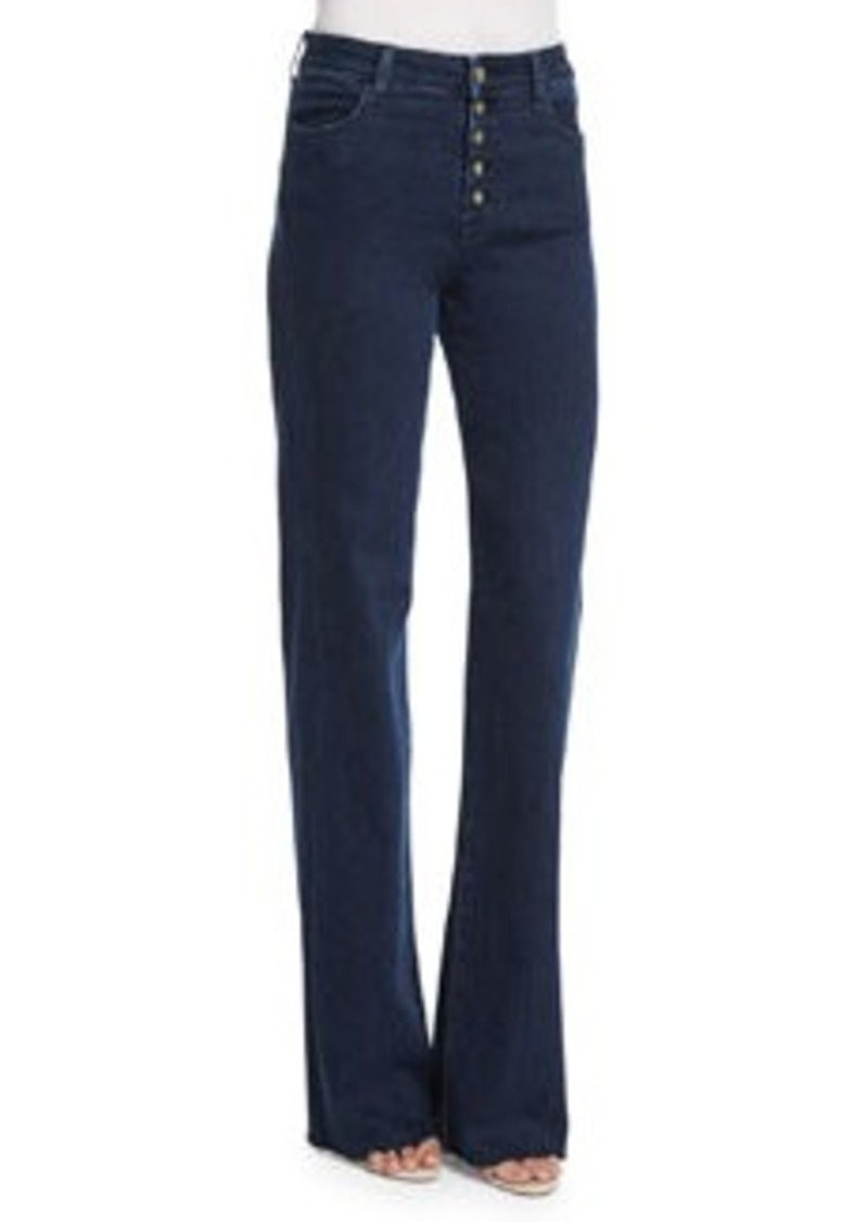 J Brand High-Rise Tailored Flare-Leg Jeans