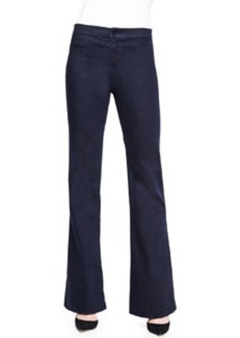 J Brand Tailored High-Rise Flared Denim Trouser