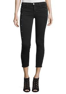 J Brand Alba Embellished Skinny Cropped Jeans