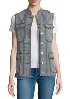J Brand Jeans Astrid Button-Front Utility Vest