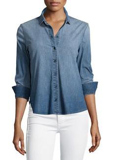J Brand Azni Button-Front Chambray Shirt