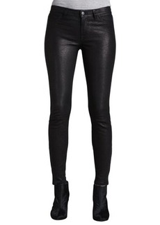 J Brand L8001 Noir Leather Super Skinny Pants