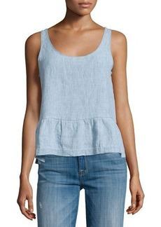J Brand Jeans Liat Sleeveless Peplum Top