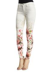 J Brand Mid-Rise Super-Skinny Floret Jeans