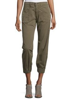 J Brand Jeans Tavi Mid-Rise Twill Utility Jogger Pants