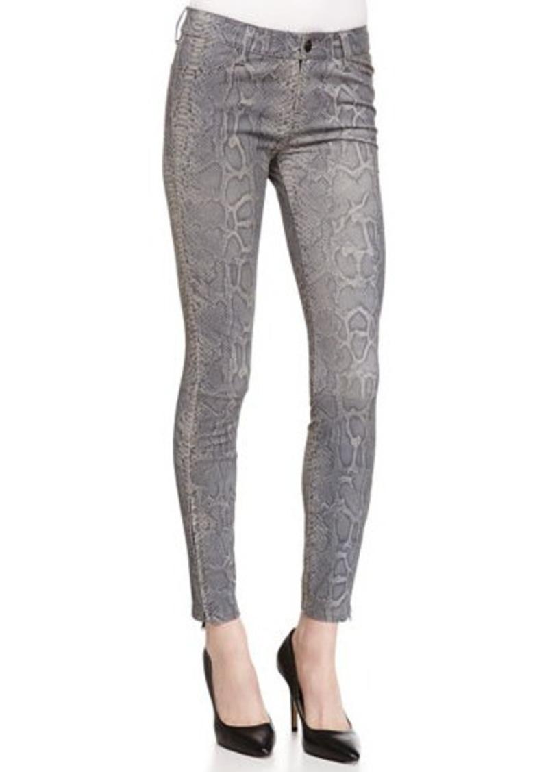 J Brand Vesper Snake-Print Leather Jeans