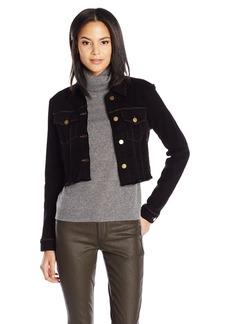 J Brand Jeans Women's Henlie Raw Hem Crop Jacket