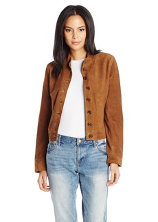 J Brand Jeans Women's Marquita Bomber Jacket in Suede  L