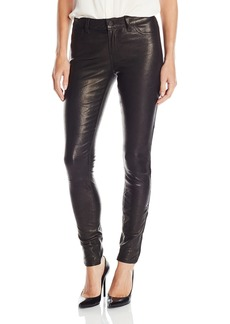 J Brand Jeans Women's Mid Rise Stretch Leather