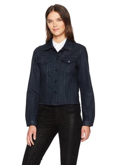 J Brand Jeans Women's Slim Jacket with Raw Hem  M