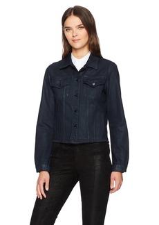 J Brand Jeans Women's Slim Jacket with Raw Hem  M