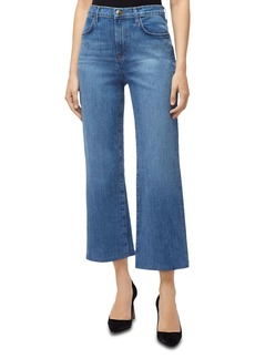 J Brand Joan Crop Wide Leg Jeans in Fluent
