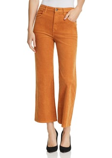 J Brand Joan High Rise Crop Wide Leg Corduroy Jeans in Titian