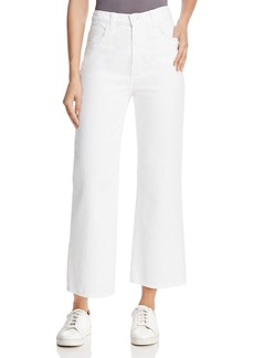 J Brand Joan High-Rise Cropped Wide-Leg Jeans in Optic White