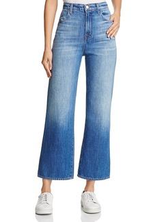 J Brand Joan High-Rise Wide-Leg Crop Jeans in Mimic