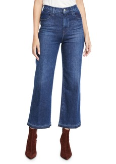 J Brand Joan High-Rise Wide-Leg Cropped Jeans