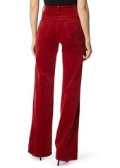 J Brand Joan High Waist Wide Leg Velvet Jeans