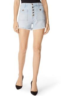 J Brand Joan Pocket High-Rise Denim Cutoff Shorts