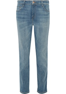 J Brand Johnny distressed boyfriend jeans