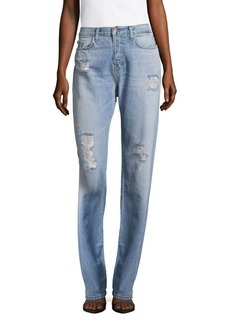 J BRAND Johnny Five-Pocket Boyfriend Jeans/Blue