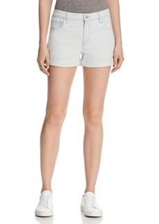 J Brand Johnny High-Rise Cuffed Denim Shorts in Powdered