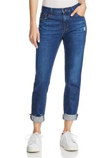 J Brand Johnny Mid-Rise Boyfit Jeans in Doubletake