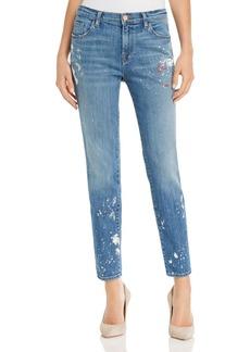 J Brand Johnny Paint-Splattered Boyfriend Jeans in Peace