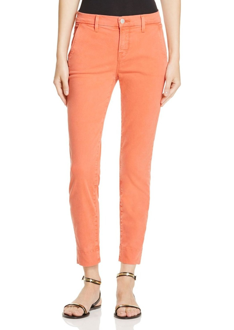 J Brand Josie Tapered Leg Pants in Distressed Grenadine