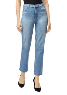 J Brand Jules High-Rise Straight Leg Jeans in Marcella