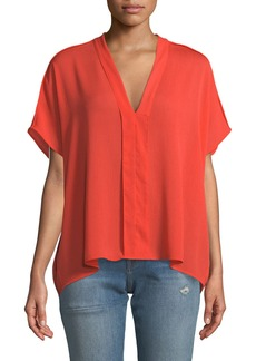 J Brand Kiko V-Neck Short-Sleeve Top